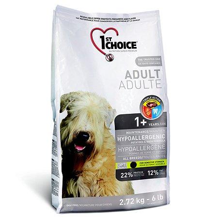 Корм для собак 1st Choice гипоаллергенный утка с картофелем 2.72кг