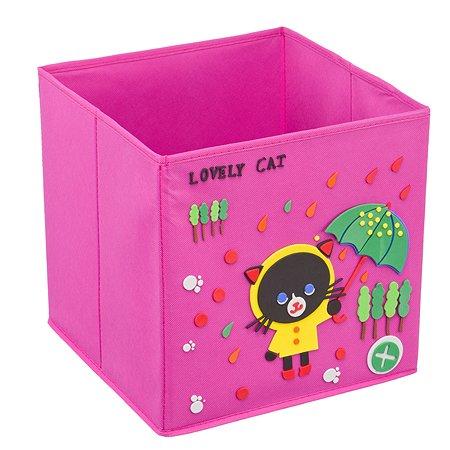 Кофр Handy Home с аппликацией Черный кот