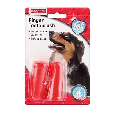Зубная щетка для собак и кошек Beaphar двойная на палец 2шт 39101