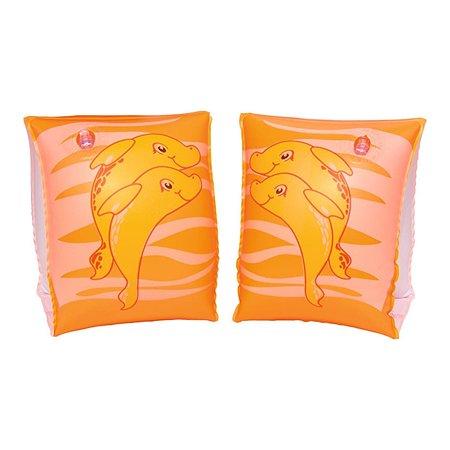 Нарукавники для плавания Bestway 23х15 см Дельфин оранжевый Bestway