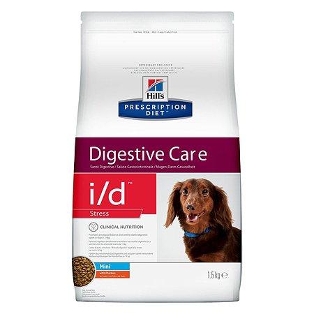 Корм для собак HILLS Prescription Diet i/d Stress DigestiveCare для мелких пород для ЖКТ и при стрессе с курицей сухой 1.5кг