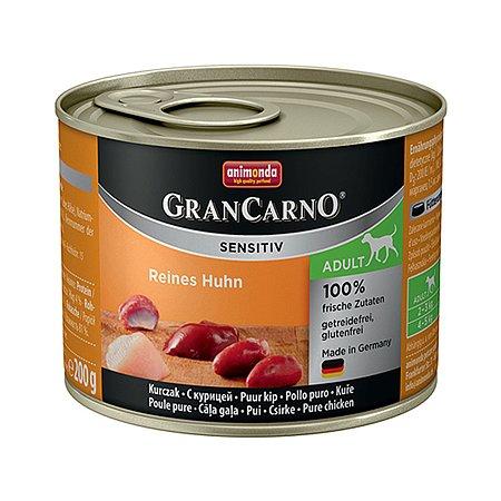 Корм для собак ANIMONDA GranCarno Sensitiv с курицей консервированный 400г