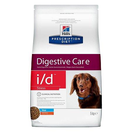 Корм для собак HILLS Prescription Diet i/d Stress Digestive Care для мелких пород для ЖКТ и при стрессе с курицей сухой 5кг