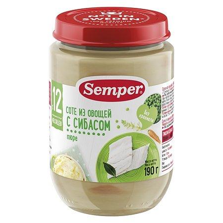 Пюре Semper соте из овощей сибасом 190г с 12месяцев