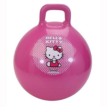 Мяч-попрыгун Hello Kitty 45 см с ручкой перламутр