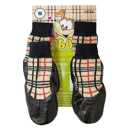 Носки для собак Барбоски M Клетка 52754