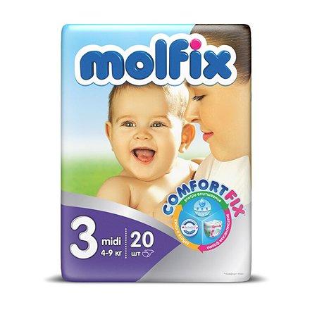 Подгузники Molfix Comfortfix Миди 4-9кг 20шт