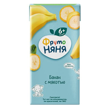 Нектар ФрутоНяня из бананов с мякотью 0,2 л с 6 месяцев