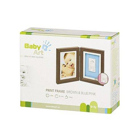 Рамочка BabyArt двойная (шоколад)