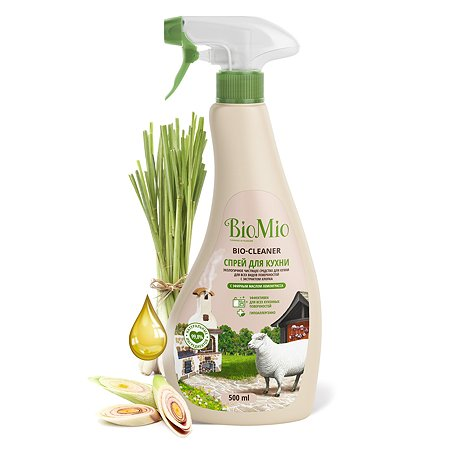Средство-спрей для поверхности кухни BioMio Bio Лемонграсс чистящий 500мл