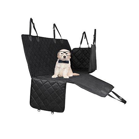 Автогамак для животных Stefan большой черный 137х147см Stefan