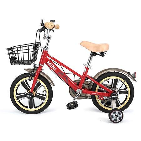 """Велосипед Rastar Mini Cooper 14"""" с корзиной Красный"""