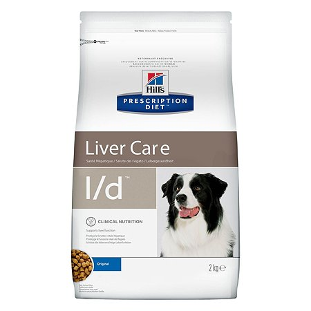 Корм для собак HILLS Prescription Diet l/d Liver Care для поддержания здоровья печени сухой 2кг