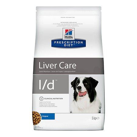 Корм для собак HILLS Prescription Diet l/d Liver Care для поддержания здоровья печени сухой 5кг