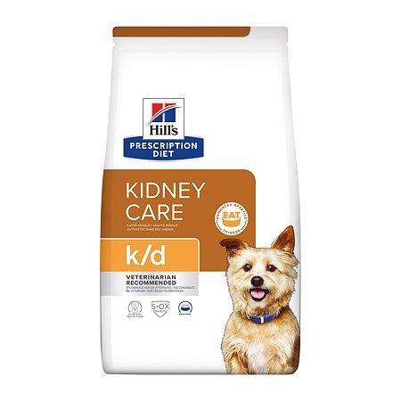 Корм для собак HILLS Prescription Diet k/d Kidney Care для поддержания здоровья почек сухой 12кг