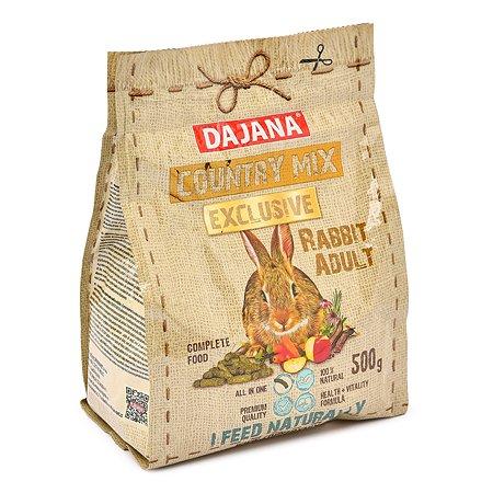 Корм для кроликов DAJANA Exclusive взрослых 500г DP409J