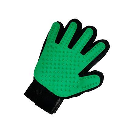 Перчатка для груминга Stefan массажная для вычесывания шерсти животных зеленая 23х17см Stefan