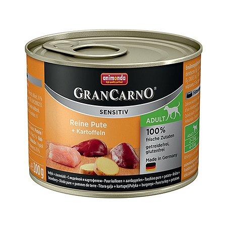 Корм для собак ANIMONDA GranCarno Sensitiv с индейкой и картофелем консервированный 400г