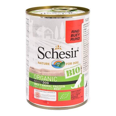 Корм для собак Schesir с говядиной 400г