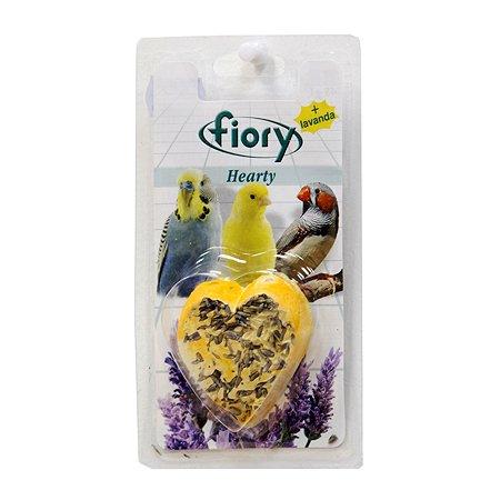 Био-камень для птиц Fiory Hearty с лавандой в форме сердца 45 г