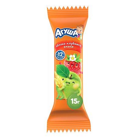 Батончик Агуша яблоко-клубника-злаки 15г