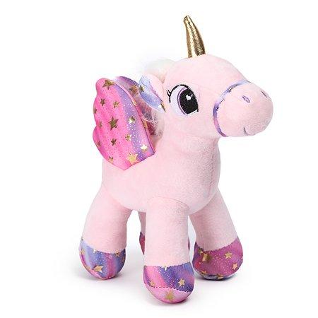 Игрушка мягкая Laffi Единорог с крыльями Розовый 5238
