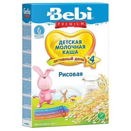 Каша Bebi молочная рисовая 250 г с 4 месяцев