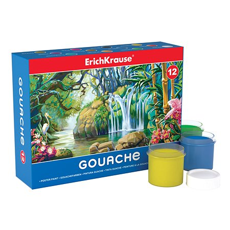 Гуашь Erich Krause 12 цветов(20мл)