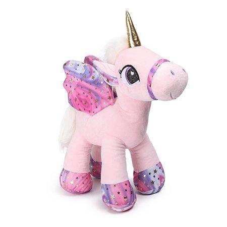 Игрушка мягкая Laffi Единорог с крыльями Розовый 5239