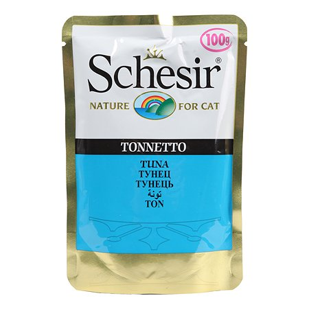 Корм влажный для кошек Schesir 100г тунец