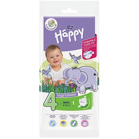 Подгузники Bella baby Happy Maxi 4 8-18кг 1шт