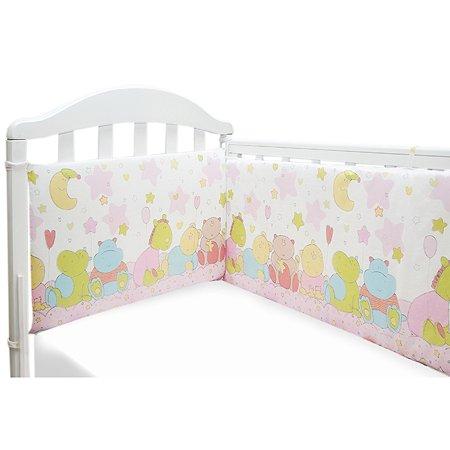 Борт в кроватку Baby Nice Розовый