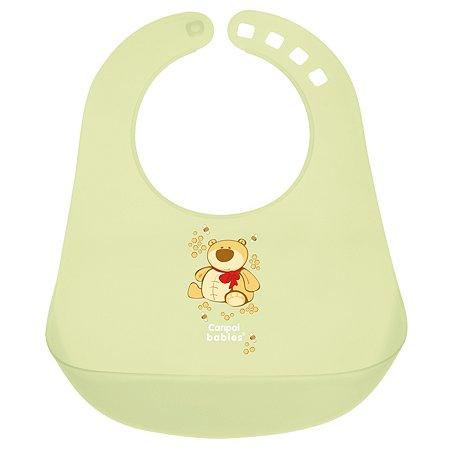 Нагрудник Canpol Babies пластиковый Зелёный