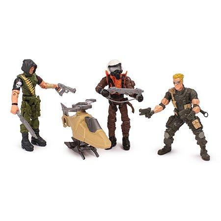 Набор Global Bros Герои-3 3 солдатика+аксессуары