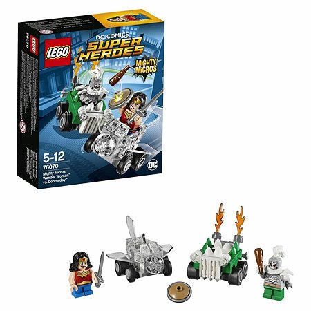 Конструктор LEGO Super Heroes Mighty Micros: Чудо-женщина против Думсдэя (76070)