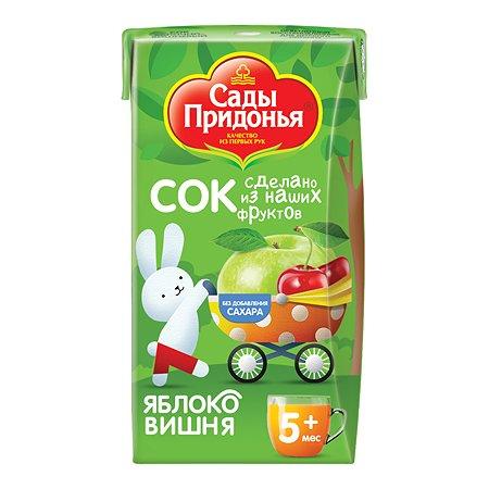 Сок Сады Придонья яблоко-вишня 0,125л с 5 месяцев