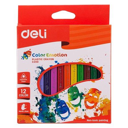 Восковые мелки Deli EC20000 Color Emotion трехгранные 12 цв.