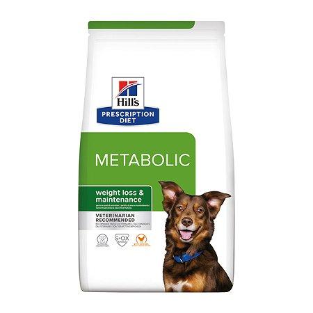 Корм для собак HILLS Prescription Diet MetabolicWeight Management для оптимального веса с курицей сухой 4кг
