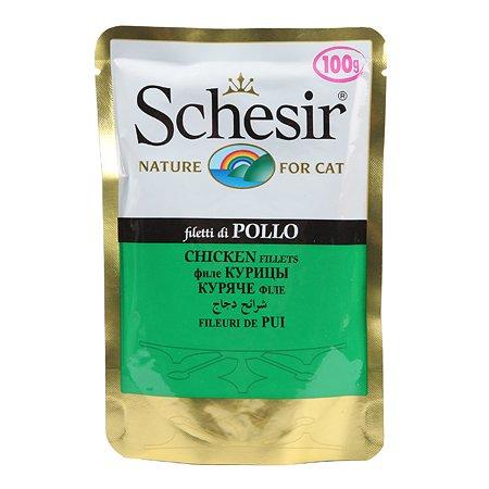 Корм влажный для кошек Schesir 100г филе цыпленка