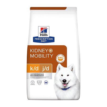 Корм для собак HILLS Prescription Diet k/d Mobility Kidney Join Care для здоровья почек и суставов сухой 12кг