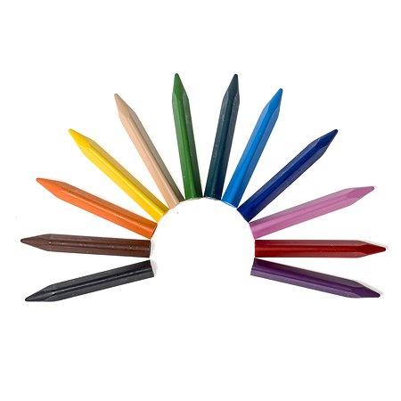 Мелки Jovi восковые треугольные 12 цветов в коробке с европодвесом