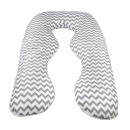 Подушка для беременных AMARO BABY Уголки анатомическая Серый