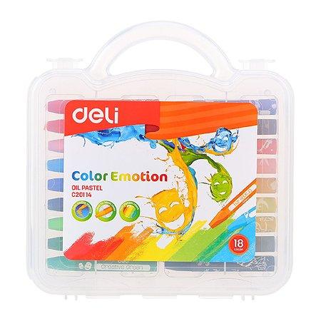 Пастель масляная Deli 18цветов 1045207