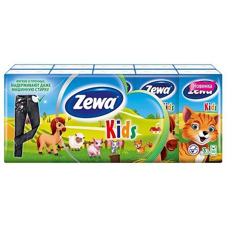 Платки носовые Zewa Kids 10*10шт в ассортименте