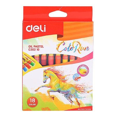 Пастель масляная Deli ColoRun 18цветов 1005571
