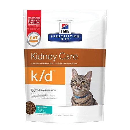 Корм для кошек HILLS Prescription Diet k/d Kidney Care для здоровья почек с тунцом сухой 400г