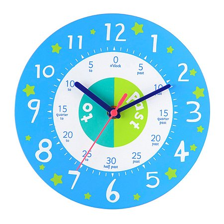 Часы настенные ELC Который час Синие 140248