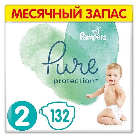 Подгузники Pampers Pure Protection Mini 4-8кг 132шт
