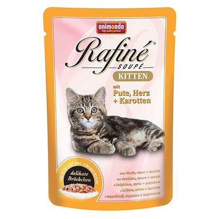 Корм влажный для котят ANIMONDA Rafinе Kitten 100г с индейкой сердцем и морковью пауч