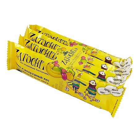 Батончик Zatochito злаковый банан-воздушный рис 4*22г